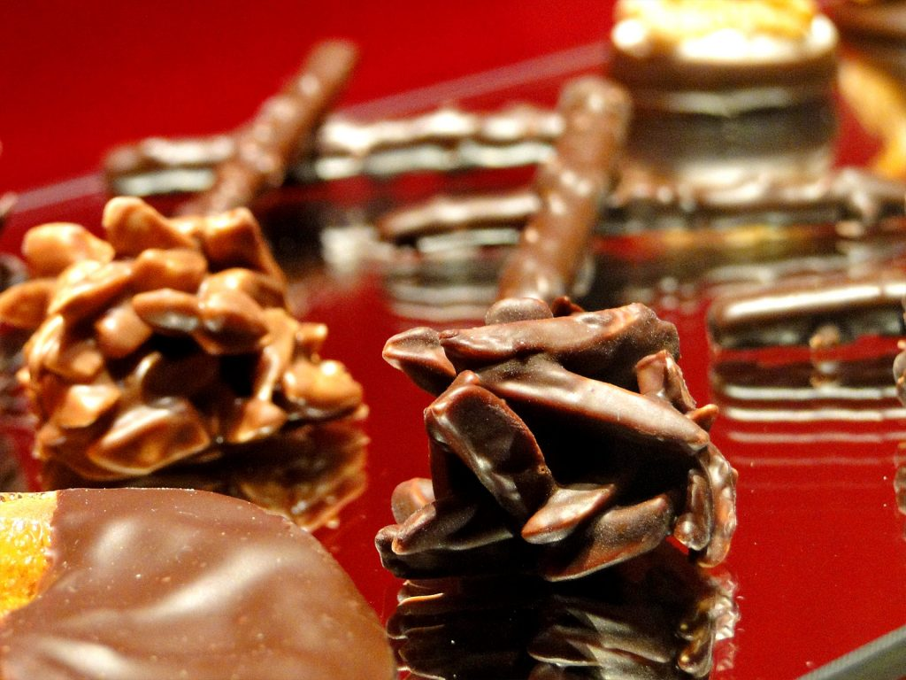 数種類のチョコレート