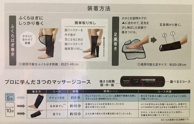 レッグリフレの装着方法とコース説明